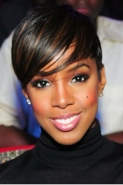 Cropped haircuts for black women