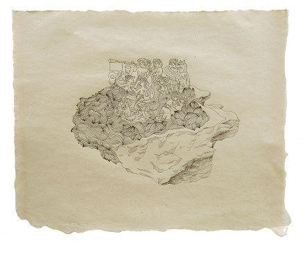 First Island-Joy , 2009 Pen on paper 43 x 53 cm