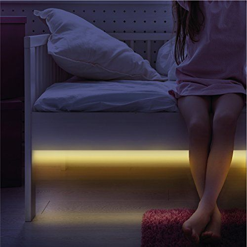 Motion Sensor Light - Flexible Bright LED Strip Bed Night...