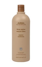 Blue Malva shampoo! Smells SO good and takes the brassy color out of blonde hair. Aveda has done it again.