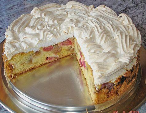 Rhabarber - Baiser - Kuchen, ein raffiniertes Rezept aus der Kategorie Kuchen. Bewertungen: 280. Durchschnitt: Ø 4,7.