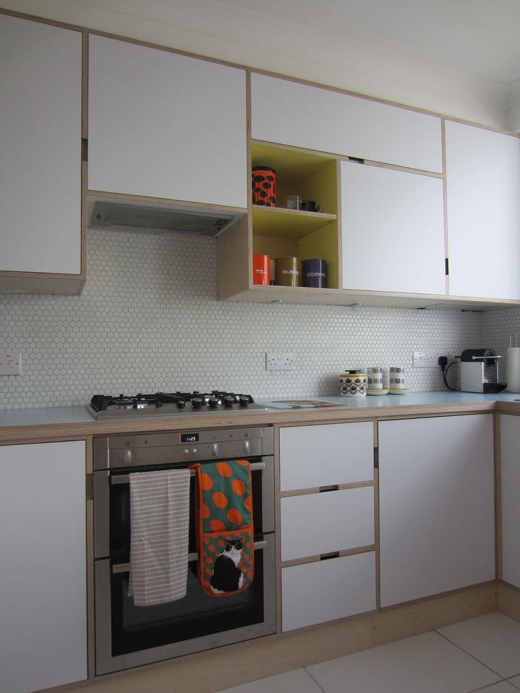 Plywood kitchen, birch ply, Formica, Kandya, mid-century modern, retro, Span, Eric Lyons, Blackheath, www.christopherdaviesassociates.co.uk/