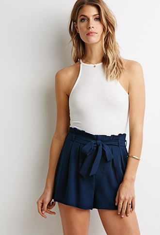 Pleated-Waist Shorts | Forever 21 - 2002247302