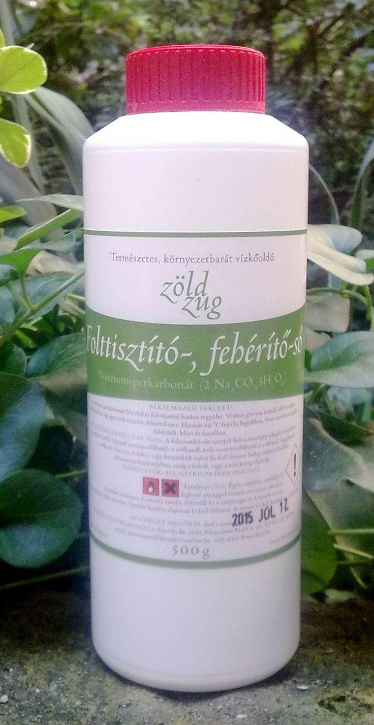 Folttisztító só (aktív oxigénes fehérítő), nátrium perkarbonát (Zöld Zug), 500 g
