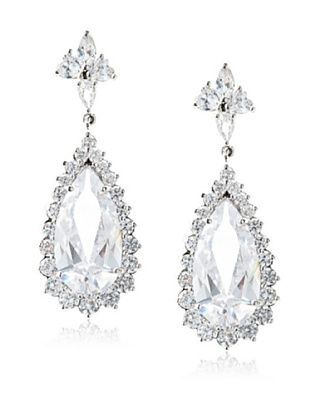65% OFF CZ by Kenneth Jay Lane Large Pear Drop Liz Earrings