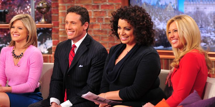 CNN New Day Meteorologist Indra Petersons Michaela Pereira Chris Cuomo Kate Bolduan  Couch Good Stuff
