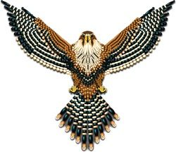 Beadwork Aplomado Falcon Naumaddic Arts! NaumaddicArts@gmail.com