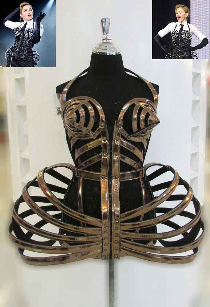 DaNeeNa T029 Madonna Cone Bra Pointy Corset Cage Leather Costume XS-XL in Clothing, Shoes & Accessories | eBay