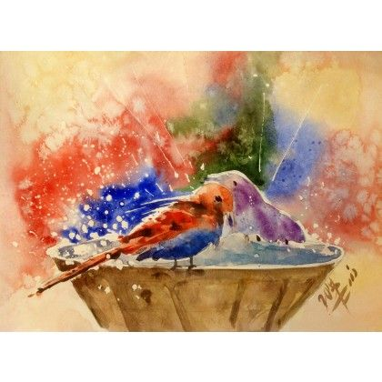 Birth Splash #watercolor