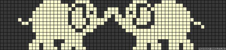 Elephant Alpha Pattern Bracelet