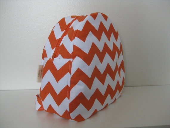 'I heart #littlefawndesigns'  Orange Chevron Toddler Backpack by LittleFawnDesigns on Etsy, $35.00