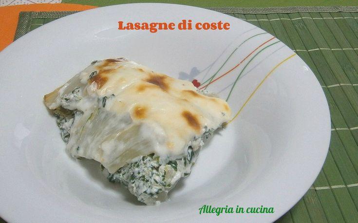 LASAGNE DI COSTE http://blog.giallozafferano.it/allegriaincucina/lasagne-di-coste/#