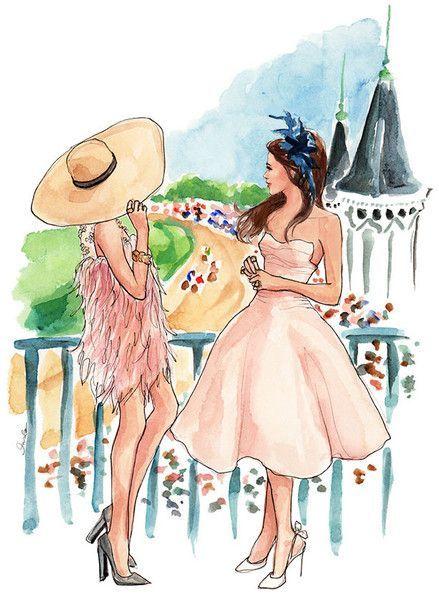 Adoro colecionar ilustrações de moda no Pinterest (segue aê!). E foi lá que conheci o trabalho da ilustradora americana Inslee Haynes. Com traços delicadíssimos, Islee faz pinturaslindas, cheias de cores e referências de moda.  Inslee fundou sua marcae seu siteem 2006,enquanto estudava na Univ