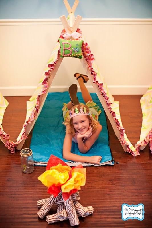 Girly Camping Themed Party     Kara's Party IdeasKara's Party Ideas