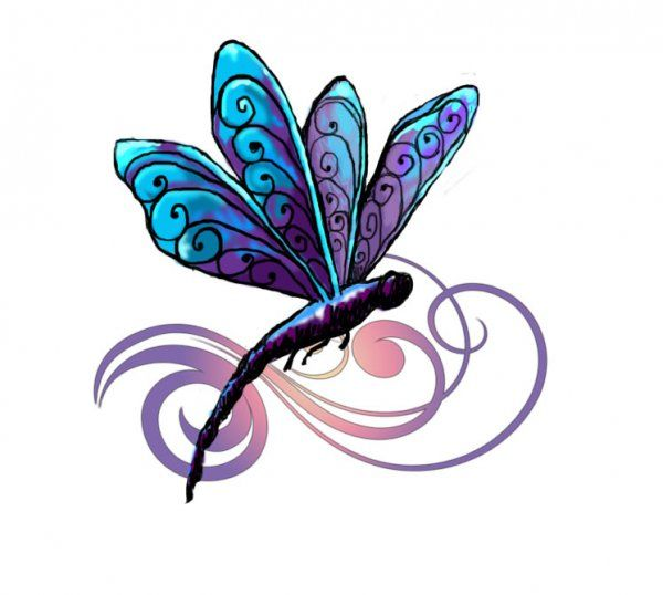 Gallery for > simple dragonfly drawing