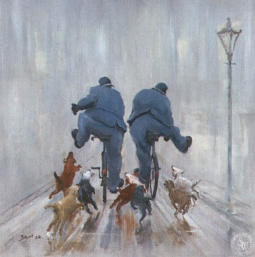 'Catch Me If You Can' | Gallery | Des Brophy Des Brophy has such a great humor in his work. he worked on the police force in UK for over  20 years and shows the lighter side!