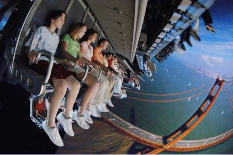 Soarin' attraction in EPCOT  DID THIS :)