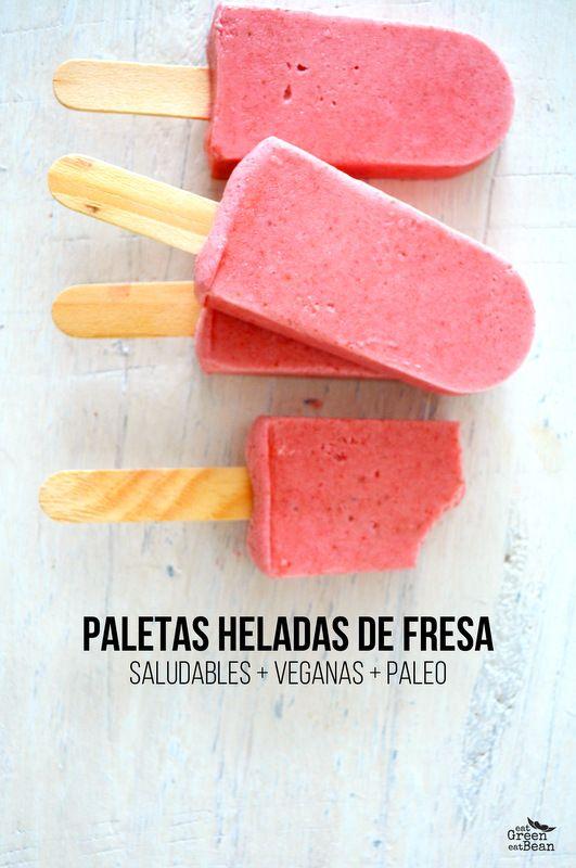PALETAS HELADAS DE FRESA