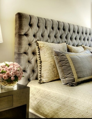 Donald Headboard with Diamond Tufting. Want this in a King!
