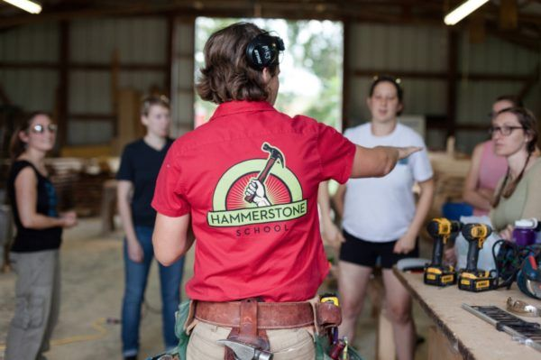 """Hammerstone School: """"... a community of women participating in the construction of your house."""""""