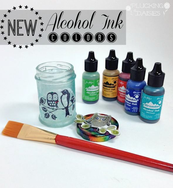 Altered Jar with New Alcohol Ink Colors