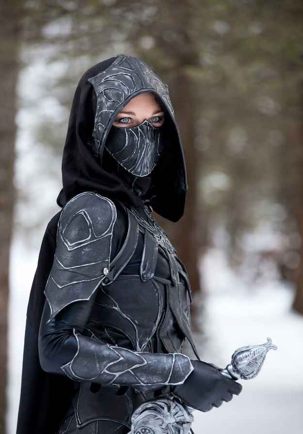 Faith and Fun: Cosplay in hijab. Skyrim - Nightingale