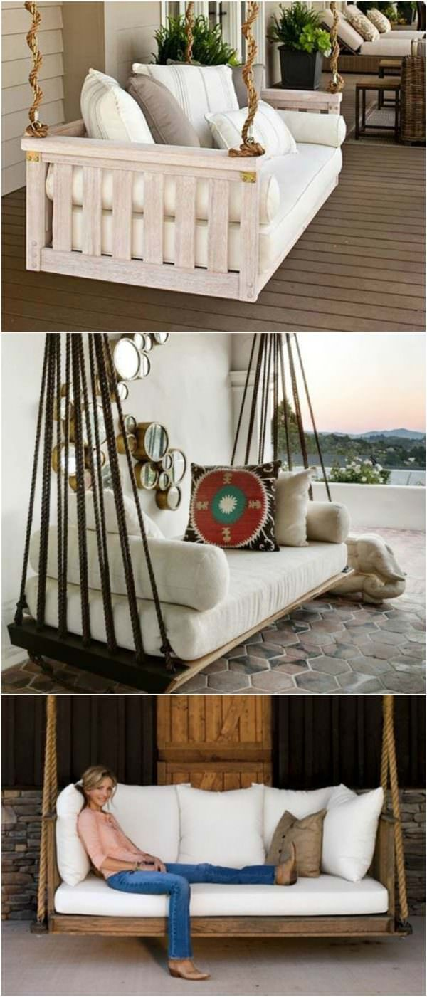 Diy patio furniture - 7 Diy Outdoor Swings That Ll Make Warm Nights Even Better 6 Is Just Stunning