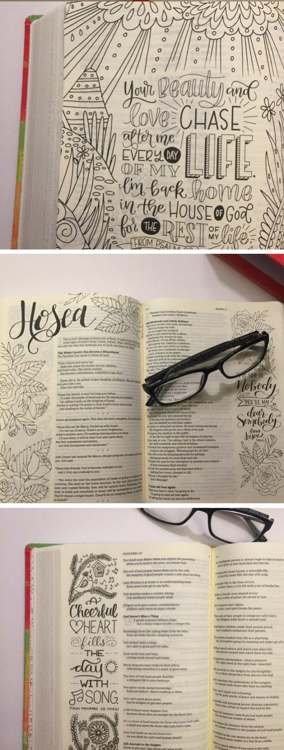 The Message Canvas Journaling Bible Hardcover by adventacular