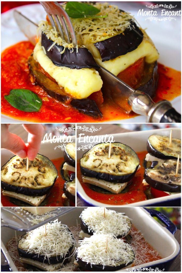 TORRE DE BERINJELA - delicia fácil fácil de fazer molho ao tomatinho, queijo e parmesão