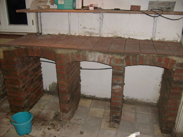 Progress is slow brick building kitchen worktops and for Kitchen units made of bricks