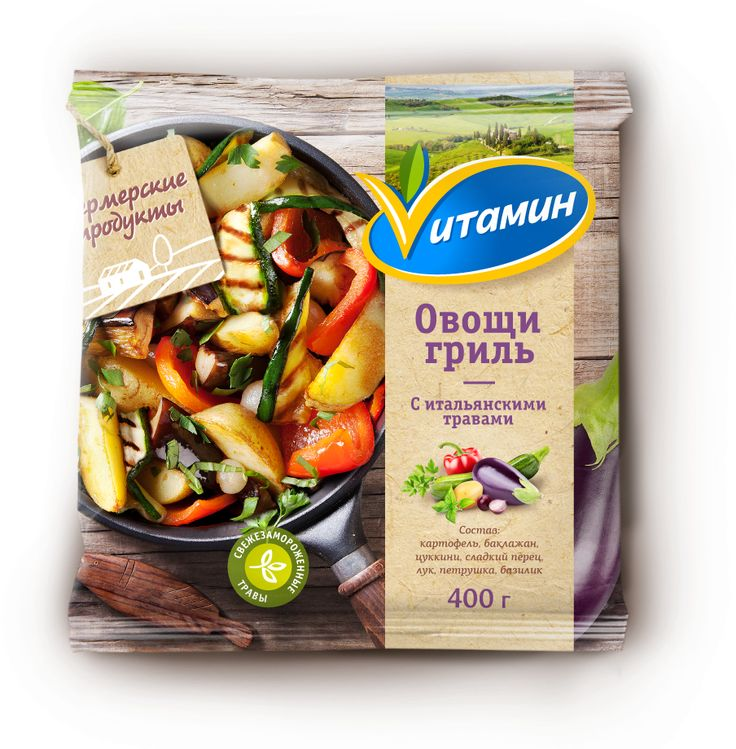 © BRANDEXPERT Freedom Island. The Vitamin brand restyling and development of a new packaging design of the whole assortment line. Vitamin is the famous Russian brand with a wide range of deep-frozen fruits, berries, vegetables, and mixes for fruit smoothies, sauces and dishes from different traditional and national cuisines of the world.