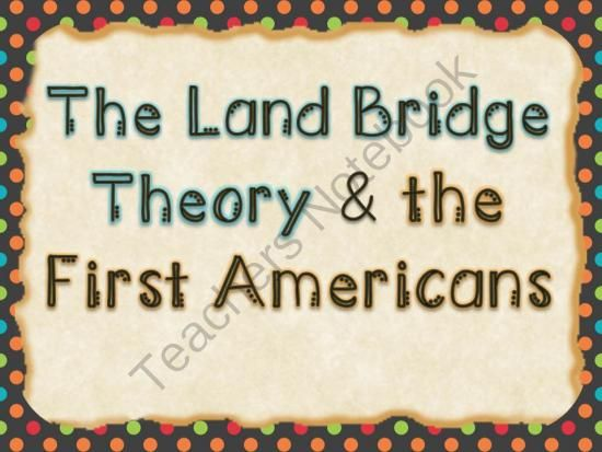 The Land Bridge Theory - This bundle contains a presentation and fill-in-the-blank guided notes. The presentation is in two different formats (PDF and PPTx).. A GIVEAWAY promotion for Land Bridge Theory Bundle from Tick! Tock! Teach! on TeachersNotebook.com (ends on 8-29-2014)