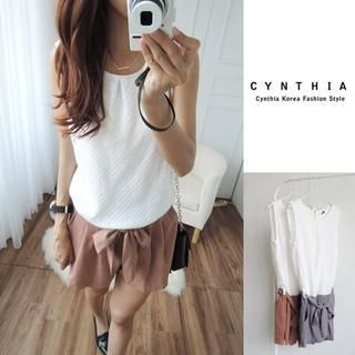 Buy 'CYNTHIA – Sleeveless Tie-Waist Playsuit' with Free Shipping at YesStyle.ca. Browse and shop for thousands of Asian fashion items from Taiwan and more!
