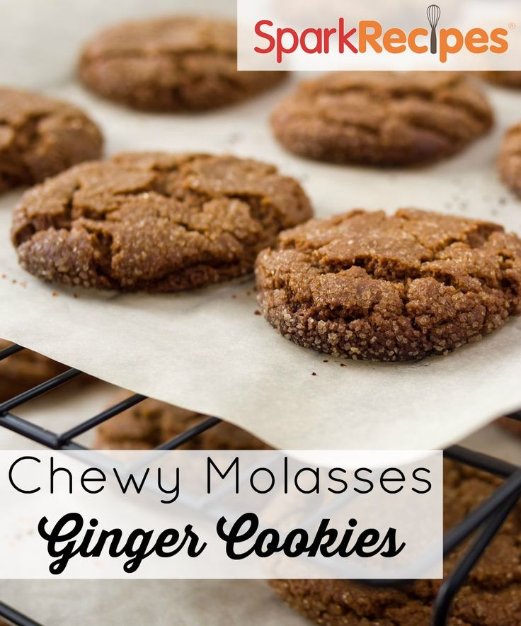 Chewy Molasses Ginger Cookies Recipe. I adore these little cookies! |via @SparkRecipes #dessert #cookies