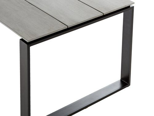 Table KOPERVIK 100x210 alu/artwood grey