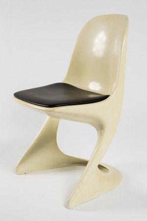 Stuhl, Kunststoff, Weiß / Crème / Beige | Lauritz.com