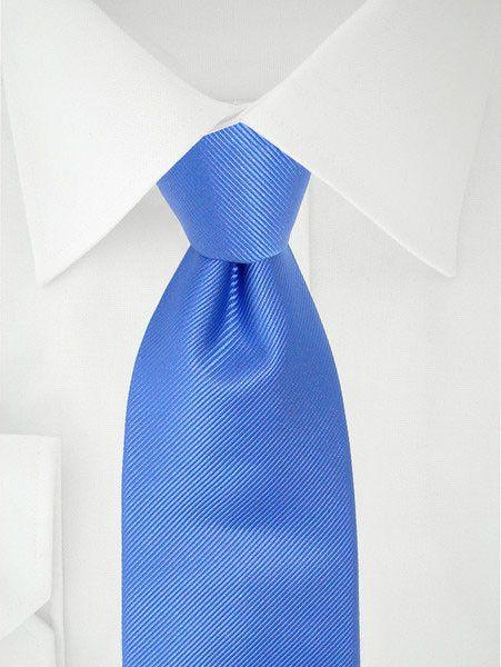 Blauwe Stropdas Uni XL