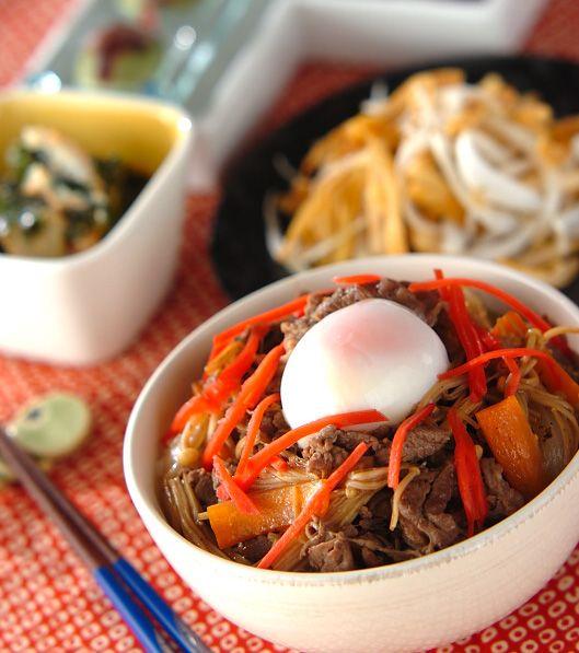 「甘辛牛丼」の献立・レシピ - 【E・レシピ】料理のプロが作る簡単レシピ/2011.03.18公開の献立です。