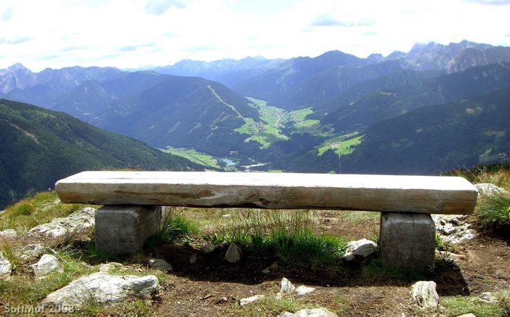 Panchina panoramica presso Sillian (Austria).