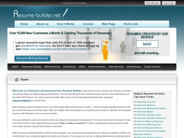 online resume builder with 118 resume templates review get full review http