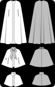 Cartamodello Burda, Mantello da sera lungo, T: 36-50