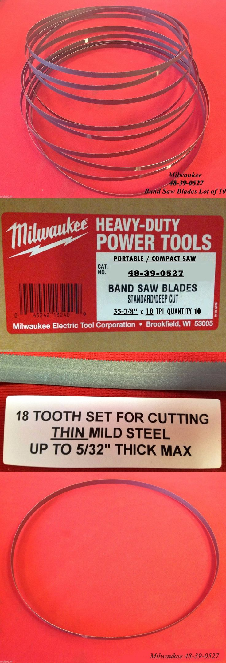 Band Saws 177016: Milwaukee 48-39-0527 35-3 8 18 Tpi Compact Band Saw Blade Lot Of 10 Fits 2629 -> BUY IT NOW ONLY: $45.75 on eBay!