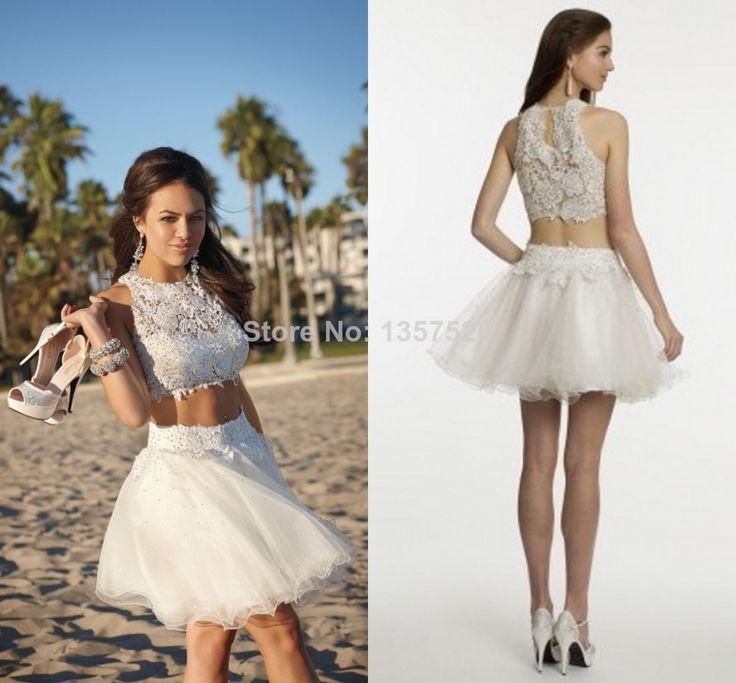 На заказ сборную рукава короткие белые платья возвращения на чисто кружевные аппликации бусины 2016 коктеила ну вечеринку платье платье TK175