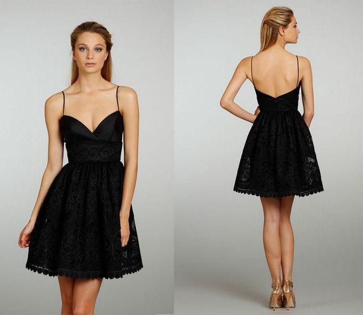 robe de mariée noire courte sans manches dos nu robe noire femme robe de soirée