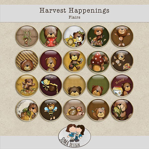 SoMa Design: Harvest Happenings - Flairs