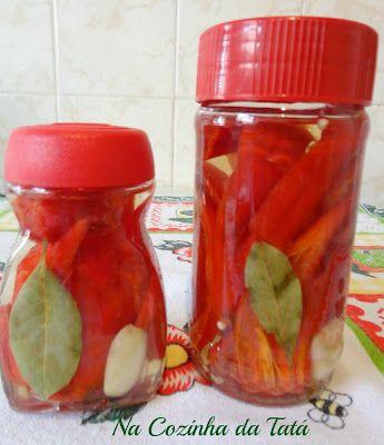 Na Cozinha da Tatá: Conserva de Pimenta Dedo de Moça