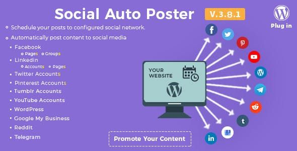 Social Auto Poster Wordpress Plugin V3 9 2 Wordpress Plugins Plugins Wordpress
