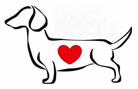 Idea for dachshund tattoo. Maybe minus the heart, or possibly a heart of a different style?