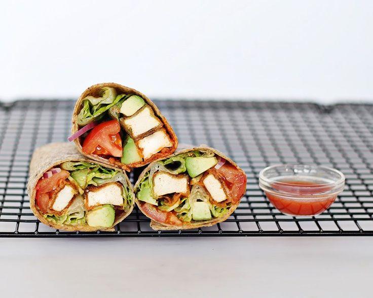 Vegan Lunch Ideas - Buffalo Tofu Wrap & Chickpea 'Toona' Sandwich