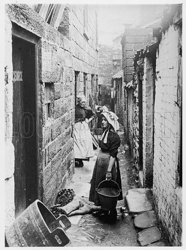 Back-to-back housing at Staithes, Yorkshire. Date late 19th century. By F M Sutcliffe ?